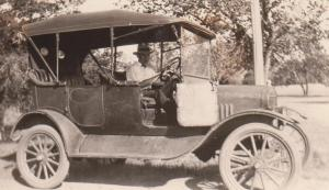 "John in his first Ford, ""Estes"""