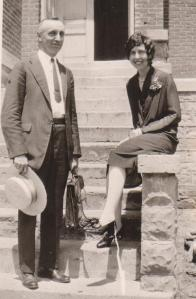 """President and Mrs. Carrell. """"President"""", as Dad calls him, was so influential in Dad's life that my oldest brother was named Milton Ora in honor of the man who showed my father the man he was to become."""