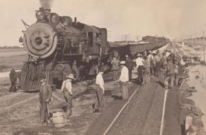 Railroad work crew