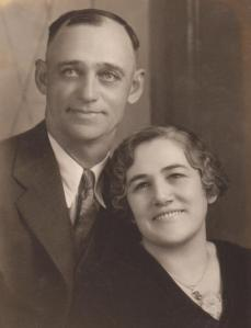 I found another photo album in the attic so I can finally share a good photo of Dad's parents, Leonard & Dicie Ferguson.  Don't know when this portrait was taken.