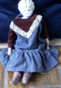 Ruth's china-head doll.  There is a doll tea set in the attic that Mom said was her favorite toy.