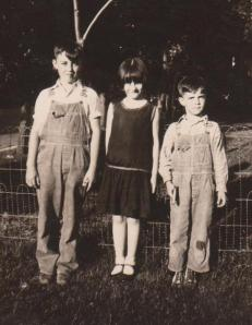 The kiddies - John's youngest sister and brothers, Leonard, Catherin, Chet