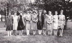 Ruth does become YWCA leader in the '27-'28 school year.  Ruth is in center in dark dress.